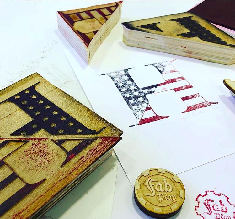American Flag Hawken Stamp